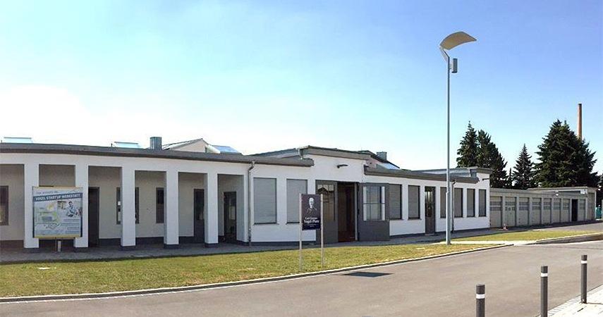 Das Vogel Gründerzentrum in den alten Maschinenhallen des Fachverlags. Foto: Vogel Business Media